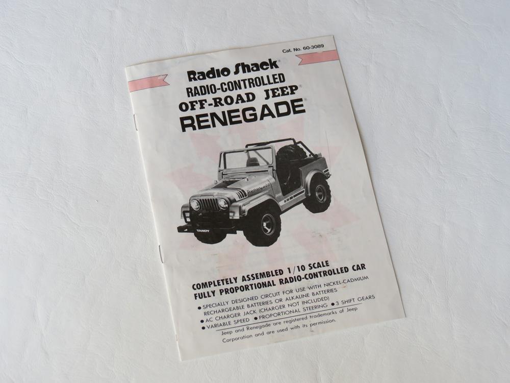 Tandy/Radio S Jeep Renegade (1984) | R/C Toy Memories on