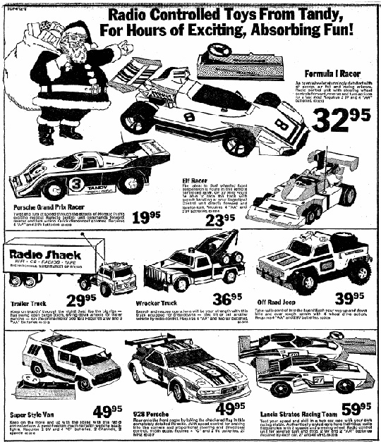 lost hobby shops tandy electronics at christmas r c toy memories 1981 Sears Christmas Catalog tandy newspaper ad sydney morning herald 9 december 1979