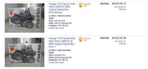 Other Wild Willys on eBay are one-third the price, and are still not necessarily quick sellers