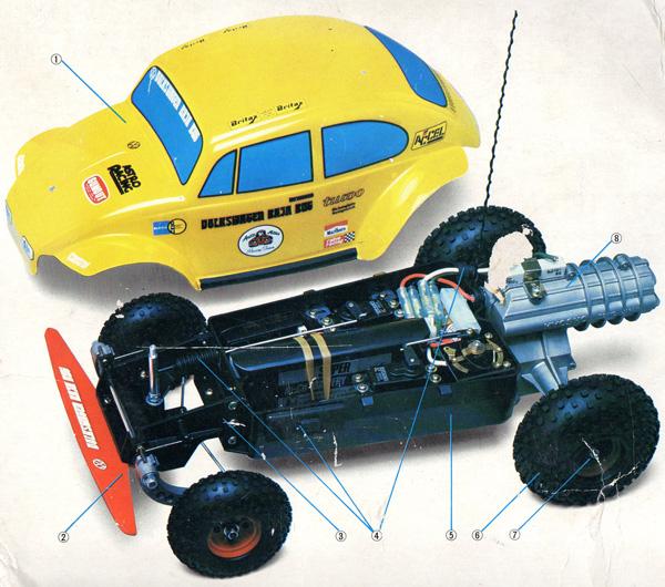 Kyosho Volkswagen Baja Bug 1982 R C Toy Memories