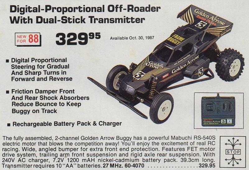 tandy radio shack golden arrow buggy 1987 r c toy memories rh rctoymemories com Radio Shack Stores Radio Shack Catalog