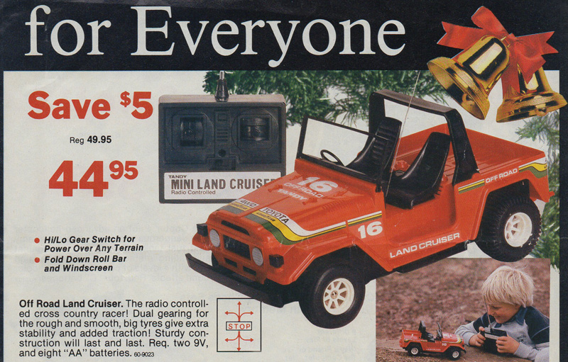 Radio Shack Toys For Boys : Tandy radio shack mini land cruiser r c toy memories