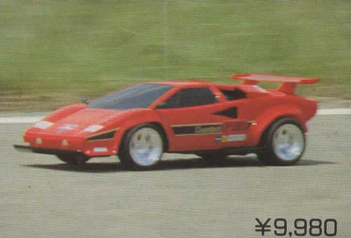 taiyo lamborghini countach lp500s (1987) | r/c toy memories