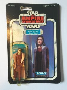 Vintage action figures, like this Leia Organa figure from Star Wars, are highly prized when they are still sealed. And you can easily see and verify the condition of the toy inside the packet.