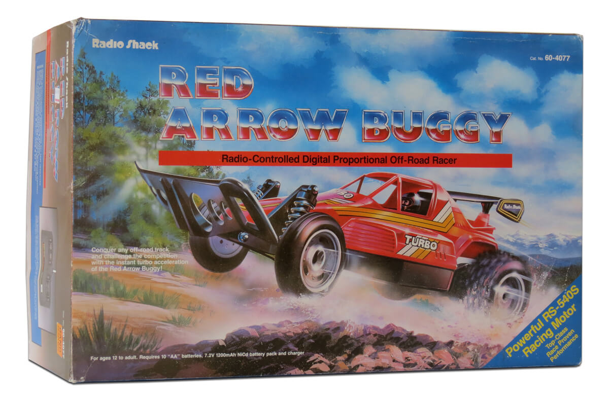 Tandy Radio Shack Red Arrow Buggy 1988 R C Toy Memories Tiny Rc Cars Transmitter And Charger Circuit 2 X Aa Cell 27mhz 001